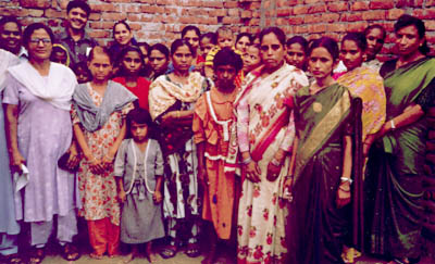 women in the Ghaziabad literacy program